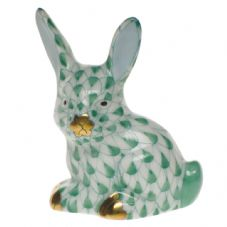 Herend Porcelain Fishnet Figurine of a Miniature Rabbit